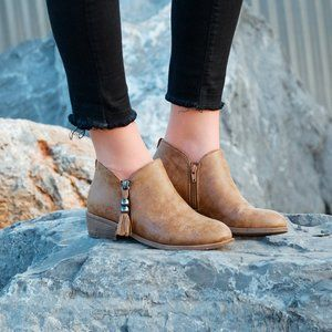 Tassel Zipper Ankle Boots from Journee Collection